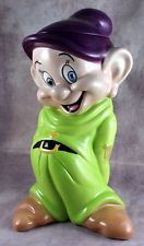 Disney DOPEY Snow White Seven Dwarfs Treasure Craft Cookie Jar - VERY NICE