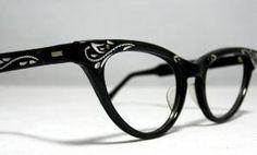 Vintage Cat Eye Glasses Frames Black