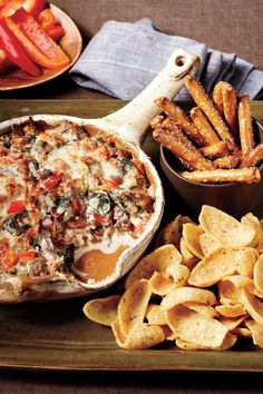 Hokie Pride Sausage Dip - Team-Inspired Tailgating Dishes - Southernliving. Recipe:Sausage, Bean, and Spinach Dip  Virginia Tech Including this dip on a VT tailgate spread will be a key play in impressing your friends.