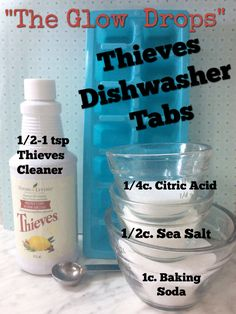 Cleaning With Essential Oils Dishwasher Tabs: D. with essential oils – ounces of prevention Is T Essential Oils Cleaning, Essential Oil Uses, Thieves Essential Oil, Young Living Oils, Young Living Essential Oils, Young Living Thieves, Dishwasher Tabs, Diy Dishwasher Cleaner, Diana