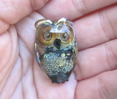 Destash - Handmade Artisan Lampwork Owl bead by Denise Shipley (DeniseAnnette) by ABeadAddictsDestash on Etsy https://www.etsy.com/listing/247945216/destash-handmade-artisan-lampwork-owl