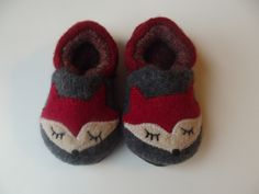 Repurposed wool fox baby shoes, so cute and soft!! Soft Wool Fox Baby Shoes made to order by smallwonderwoolies $35. Handmade in the USA.