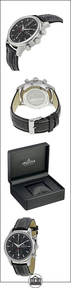 Alpina Alpiner Chronograph Automatic Stainless Steel Mens Strap Watch Calendar AL 750B4E6  ✿ Relojes para hombre - (Lujo) ✿