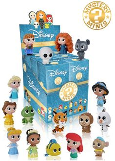 2016 Funko Disney Princesses Mystery Minis features a mix of key princesses and sidekicks in a blind-box format. Among the 16 figures, Ariel from The Little Mermaid and Anna and Elsa from Frozen are some of the most notable options.