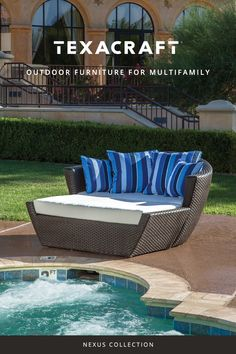 Elevate your poolside space with our line of luxurious cabana and shade structures.