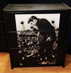 Custom Made Elvis Presley Tupelo 3 Drawer Chest Nightstand on Etsy