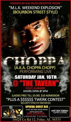 Choppa dj makavelidre live at tge tavern foley alabama
