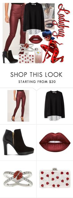"""""""Ladybug - Work Day"""" by blackest-raven ❤ liked on Polyvore featuring Missguided, Tuttle, Dune, Lime Crime, Aaron Basha, Edie Parker and Casetify"""