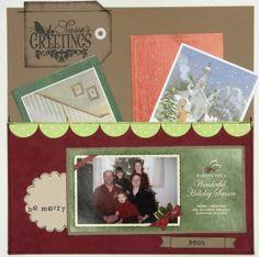 Scrapbook Christmas Card Holder, large