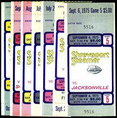 Lot of 7 1975 Shreveport Steamer Football Tickets Ticket Stubs Free Shipping | eBay