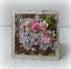 Handmade wedding card vintage roses card 3D by CarmenHandCrafts