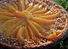 French Pear Tart Recipe: While all aspects of French gastronomy are world renowned, it is the wide variety of wonderful baked goods and pastries that really stand out; this tarte aux poires is an excellent example. From napoleons to petits fours, from cakes to tarts, the French have mastered the art of baking. Frangipane, a sweet almond-flavored pastry cream, sets off this tart's buttery pastry and slices of fresh pear. #VikingRiverCruises