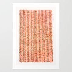 Stockinette Orange Art Print by Elisa Sandoval - $18.00