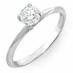 0.26 Carat (ctw) 14K White Gold Round White Diamond Solitaire Promise Engagement Ring 1/4 CT DazzlingRock Collection. $249.00. Diamond Color / Clarity : H-I / I1-I2. Weighs approximately 1.19 grams. Items is smaller than what appears in photo. Photo enlarged to show detail. Crafted in 14K White-gold. Diamond Weight : 0.26 ct tw.. Save 71% Off!