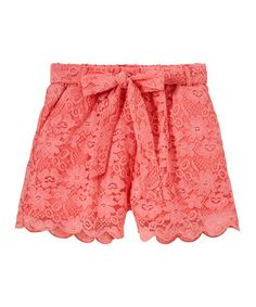 Loving this Vintage Rose Scalloped Lace Shorts - Girls on #zulily! #zulilyfinds