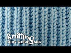 Knitting Stitch Patterns: Fisherman's Rib aka Shaker Rib