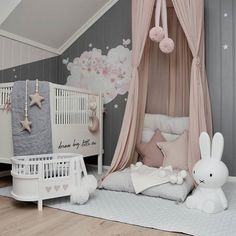Pink & Grey Baby Girl Nursery Inspo Girl Nursery, Nursery Decor, Interior Styling, Interior Design, New Mums, Kidsroom, Kids Decor, Scandinavian Style, Pink Grey