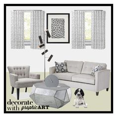 """Decorate With Graphic Art"" by deedee-pekarik ❤ liked on Polyvore featuring interior, interiors, interior design, home, home decor, interior decorating, Williams-Sonoma, Renwil, Serta and Menu"