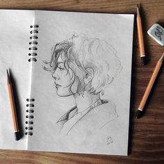 Discover The Secrets Of Drawing Realistic Pencil Portraits.Let Me Show You How You Too Can Draw Realistic Pencil Portraits With My Truly Step-by-Step Guide. Easy Drawings, Pencil Drawings, Illustration Paris, Pencil Illustration, Arte Sketchbook, Z Arts, Pencil Portrait, Side Portrait, Art Design