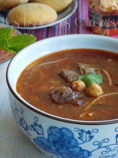 Chorba algeroise sauce rouge Chilli Recipes, Great Recipes, Soup Recipes, Healthy Treats, Healthy Recipes, Algerian Recipes, Algerian Food, Ramadan Recipes, Soups