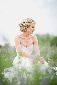 Wedding Updos Bridal Hairstyles. Christelle's multi-tone golden locks have been twisted into an elegant bridal updo and finished off with an ornate, vintage-style silver hairpin which has been affixed to one side. {Styled by Odette Will and photographed by Laura Jane Photography.} #Bridal #Hairstyles on Confetti Daydreams Wedding Blog. Click to see more! Like us on http://www.Facebook.com/Confettidaydreams #wedding #hair #upstyle #braid #bun
