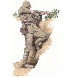 """Gallipoli, 1915 - """"Two companies of the Royal Welch Fusiliers attacked… British Army Uniform, British Soldier, Canadian Soldiers, Military Art, Military History, Military Uniforms, Ww1 Art, Boxer Rebellion, Battle Of The Somme"""