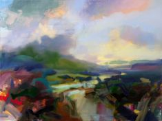 Jeffrey Beauchamp Morning on the Third Plateau an abstract landscape at Seager Gray Gallery in Mill Valley CA in the San Francisco Bay Area