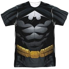 Batman Uniform Adult Tee - Front Print Only