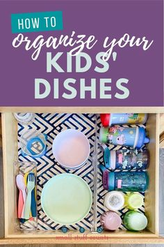 Kitchen organization can be a huge task, but taking it one cupboard or drawer at a time makes it so much better! Here's how to tackle the kids' dishes, plus my favorite drawer organizing products. #kitchenorganization #organizingkidsdishes #organizingprojects Organizing Kids Books, Organizing Your Home, Organize Kids, Beautiful Kitchen Designs, Beautiful Kitchens, Dish Organization, Kids Dishes, Snack Containers, Kitchen Cleaning