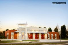 MNP Architecture - Charlotte, NC Fire Station #firestationdoors #four-folddoors