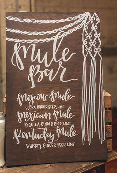 signature drinks or a specialized menu makes your reception even that much more memorable. Consider a curated selection, like a few interpretations of the Moscow Mule, or a martini or margarita bar where guests can imbibe in your favorite cocktails. Event Signage, Wedding Signage, Wedding Menu, Wedding Ideas, Wedding Cake, Wedding Dinner, Wedding Reception, Wedding Invitations, Wedding Signature Drinks