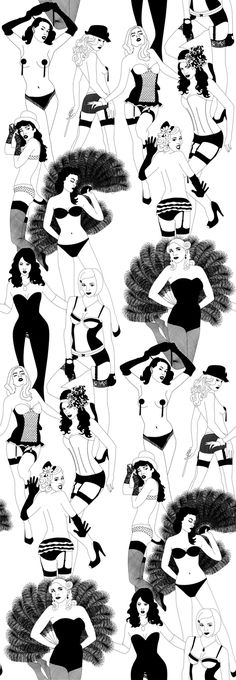 Burlesque art, see more right here http://www.burlexe.com/burlesque-art-exhibition-preview-a-brush-with-burlesque/