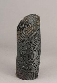 """Pascal Oudet ~ """"Tube Noir"""" (Chêne Sablé) ~ Wood Oak Sculpture 2012"""