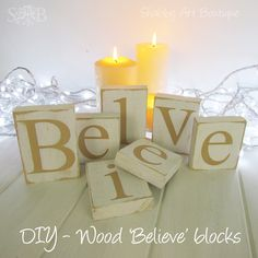 Believe letters with the tutorial