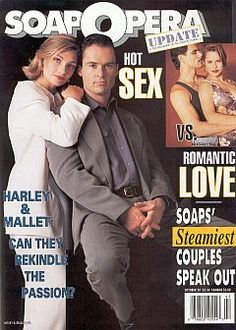 Mark Dewin and Beth Ehlers as Harley & Mallet on Guiding Light - 1992
