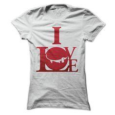 Dachshund T Shirts - Funny Dachshund Shirts - I Love Dachshunds