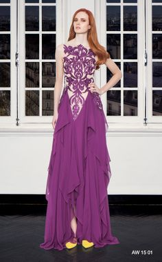 CHRISTOS COSTARELLOS AW 15-16 Christos Costarellos, Fall Winter 2015, Shades Of Purple, Ready To Wear, Formal Dresses, How To Wear, Designers, Style, Fashion