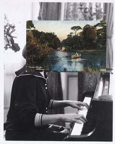 British artist John Stezaker is fascinated by the lure of images. Taking classic movie stills, vintage postcards and book illustrations, Stezaker makes collages to give old images a new meaning. Digital Collage, Collage Art, Art Collages, John Stezaker, Contemporary Art Daily, The Uncanny, Old Images, Photoshop, Matte Painting