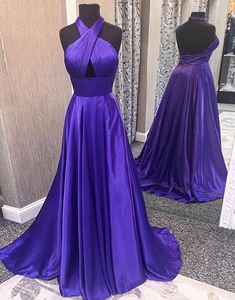 Simple satin backless long prom dress, evening dress,PD141085 #fashion#promdress#eveningdress#promgowns#cocktaildress