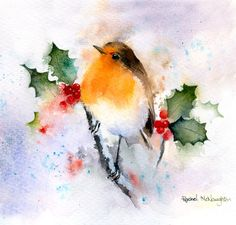 berry-christmas-jpg – Hobbies paining body for kids and adult Watercolor Bird, Watercolour Painting, Painting & Drawing, Watercolors, Decoupage, Watercolor Christmas Cards, Illustration Blume, Christmas Bird, Paint Cards