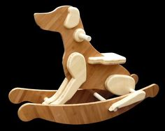 Family Dog Rocker: Delightfully made of amber and natural bamboo plywood with poplar dowel rods. Different colors could be used for different breeds. Intarsia Woodworking, Woodworking Basics, Woodworking Joints, Woodworking Workbench, Woodworking Techniques, Woodworking Crafts, Woodworking Quotes, Woodworking Furniture, Bamboo Plywood