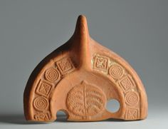 North African red slip oil lamp fragment with plant 2
