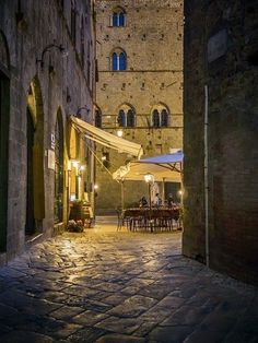 Volterra Italy ... would love a lazy evening here sharing olives, prosciutto and a glass of wine!