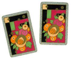 AWESOME ART DECO Flowers (2) Vintage Single Swap Playing Cards Paper Ephemera Scrapbook on Etsy, $2.53 AUD