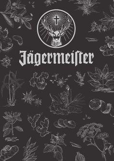 Jagermeister Display board of Ingredients