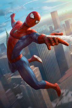 Spider-Man artwork by Javier Charro for Marvel - Spiderman Amazing Spiderman, All Spiderman, Spiderman Poster, Arte Dc Comics, Marvel Comics Art, Hq Marvel, Marvel Heroes, Comic Books Art, Character Art