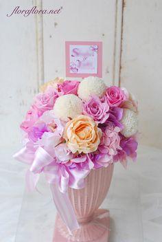 プリザーブド&アーティフィシャル仕立て ご両家贈呈用アレンジメント delivered to アニヴェルセルみなとみらい様 Preserved flower * Floral gift * Tokyo 東京 FlowerStudioFLORAFLORA*ウェディングブーケ会場装花&フラワースクール*