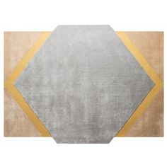 Pieces Modern Colorful Shape Octagon Rug Carpet Yellow Light Blue Hand Tufted | From a unique collection of antique and modern more carpets at https://www.1stdibs.com/furniture/rugs-carpets/area-rugs-carpets/