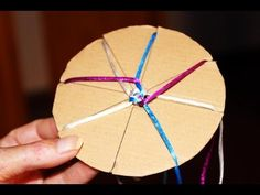 16 Strand Weaving Tutorial with Embroidery Floss - Diamond Kumihimo Pattern - YouTube