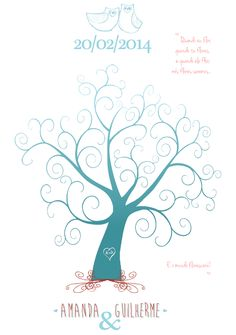 Do your own wedding fingerprint tree, download the PSD file from here http://offbeatbride.com/2012/01/downloadable-fingerprint-tree and style it as you wish. This is how mine turned out.